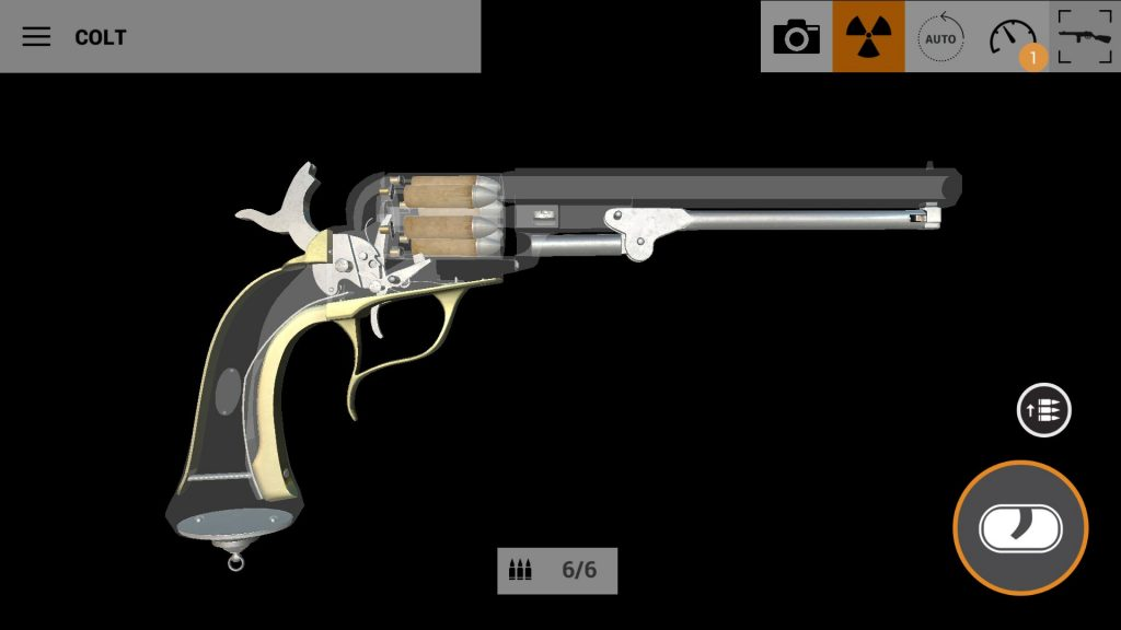 Colt in xray in weapons of heroes gun game