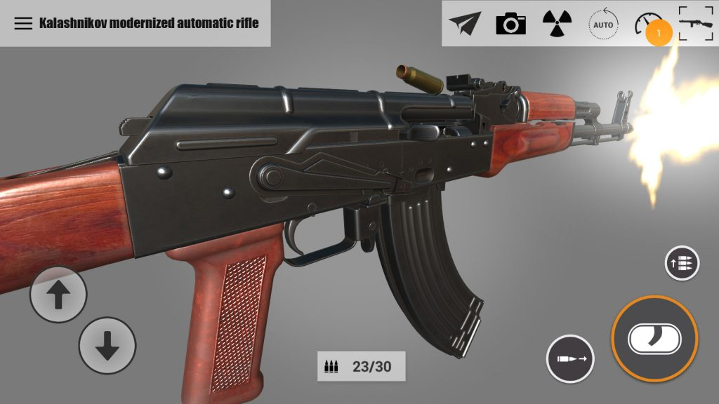 AKM in 3D in weapons of heroes