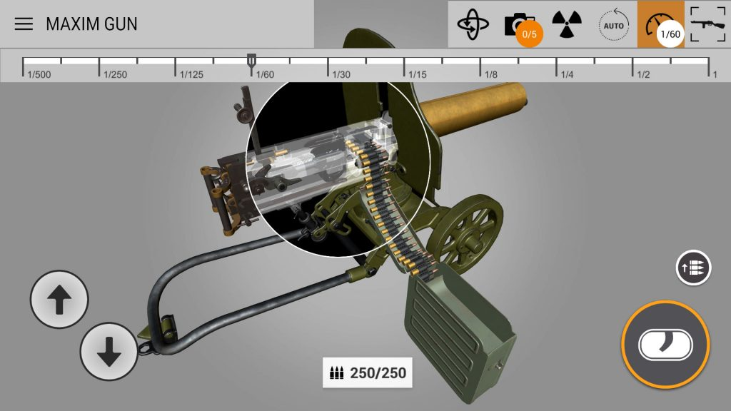 xray for maxim gun
